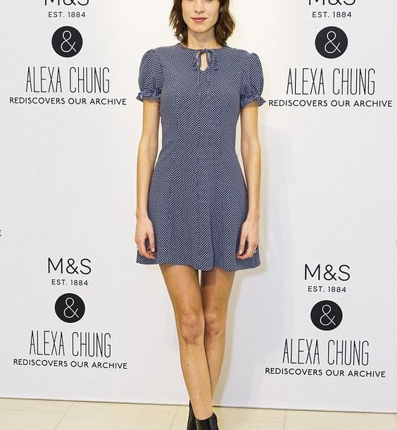 Alexa Chung Rediscover our Archive, M&S Collection!