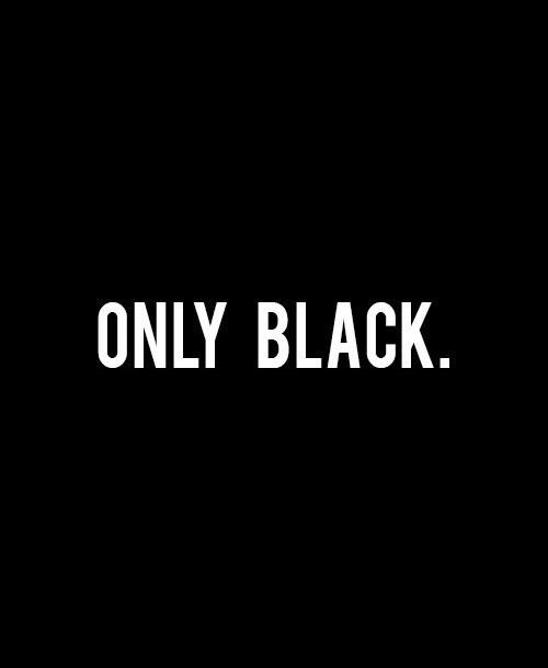 Diamonds. Black. Not a color, an attitude
