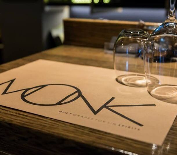 "Monk Wine Bar -Restaurant! ""Holy Grapes for Sin Spirits""!"