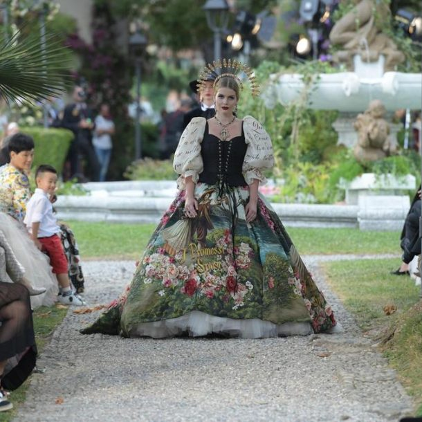 Dolce & Gabbana – Alta Moda 2018  – Flowers is nature's way of saying Let's Party!
