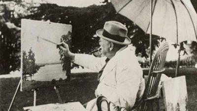 O ζωγράφος Winston Churchill!